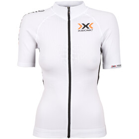 X-Bionic The Trick Kortærmet cykeltrøje Damer Full Zip hvid